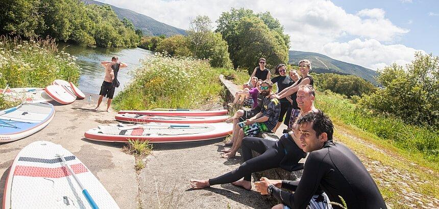 SUP Tour am Bergfluss Rio Coura ganz im Norden von Portugal