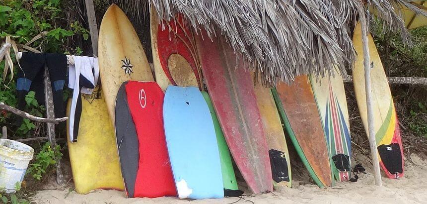 Verfärbung Surfbrett gebraucht