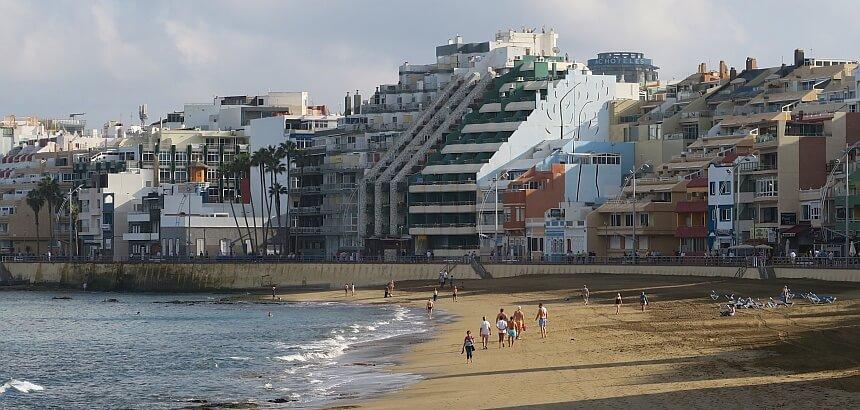 La Ventana Azul_Lage am Stadtstrand von Las Palmas