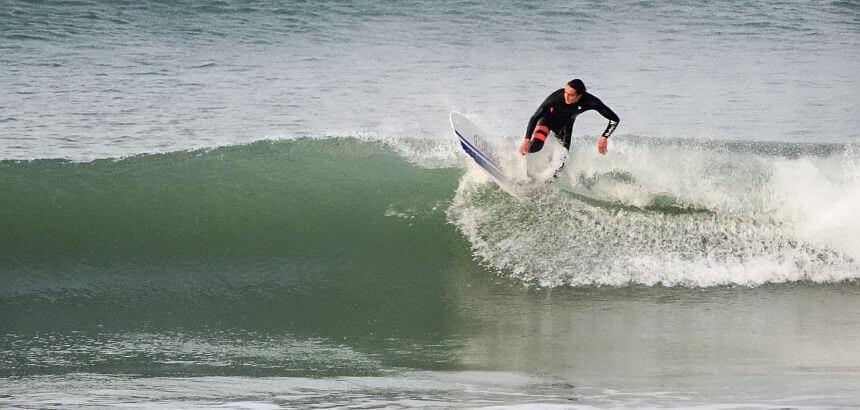 Gekonnt - Surfer am Praia do Baleal