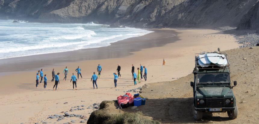 The Surf Experienec Surfcamp in der Algarve_Wellenreiten in Portugal