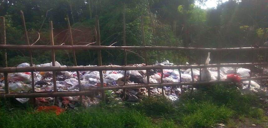 Informelle Müllkippe auf Bali