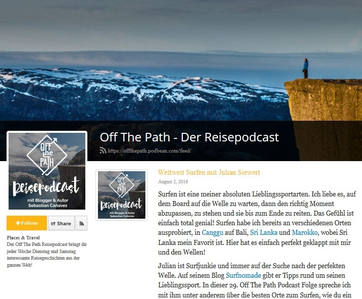 Surfnomade beim Off The Path Podcast
