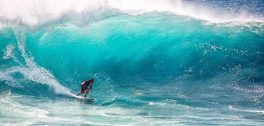 Wellenreiten und Berufung finden