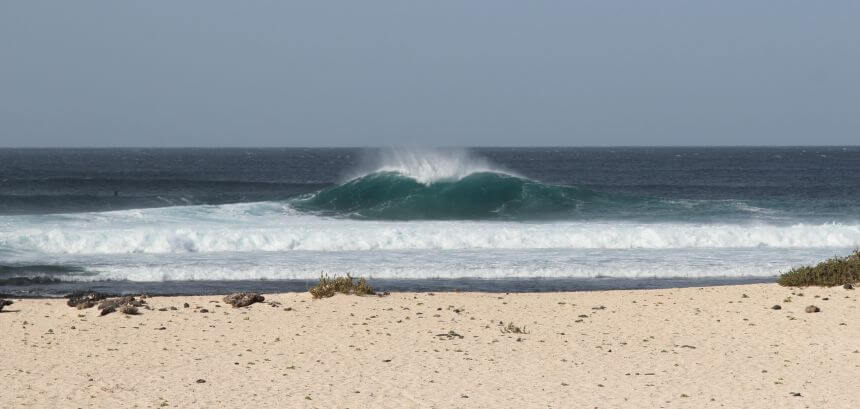 Fuerteventura surfen_Surfspot The Bubble an der North Shore