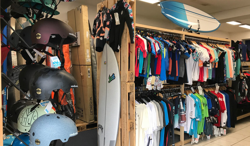 Surfshop Münster innen