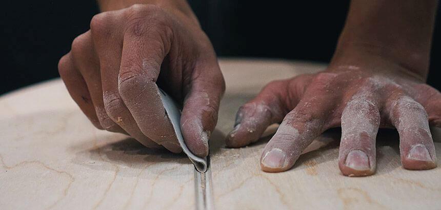 Balance Board Herstellung in Handarbeit
