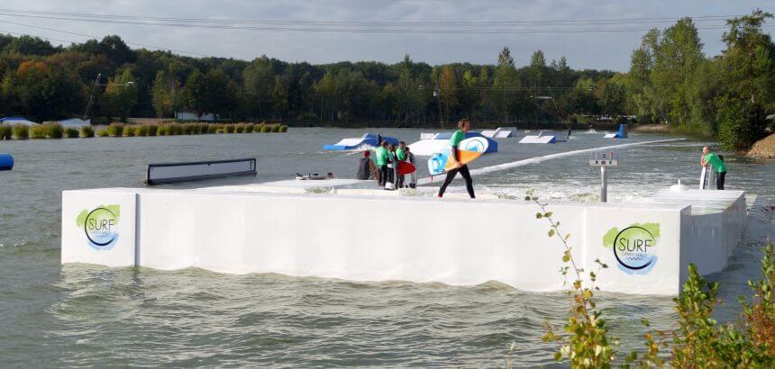 Die künstliche Welle langenfeld befindet sich zwischen Köln und Leverkusen