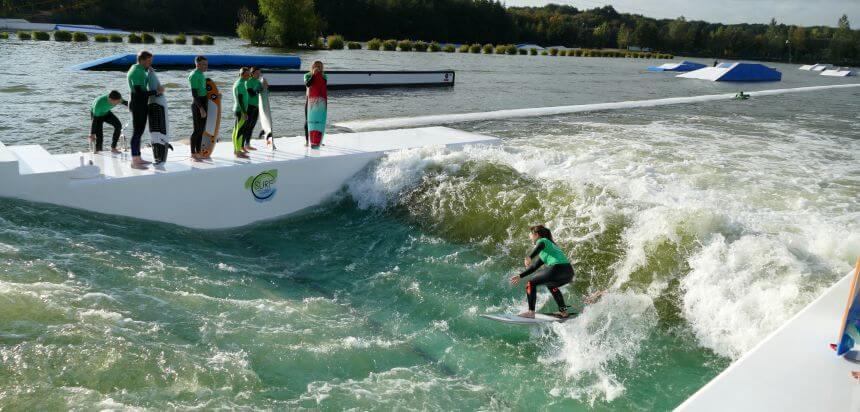 Lakesurf - künstliche Welle in Langenfeld bei Köln
