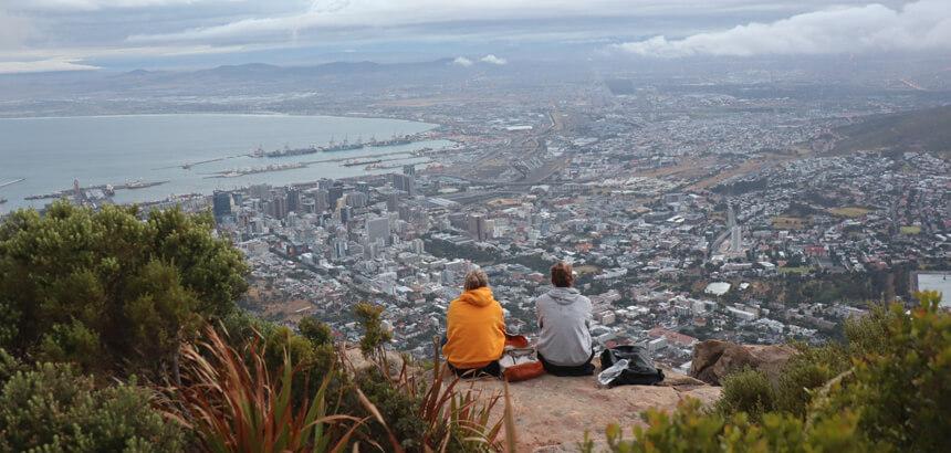 volunteers trip auf den Tafelberg in Kapstadt