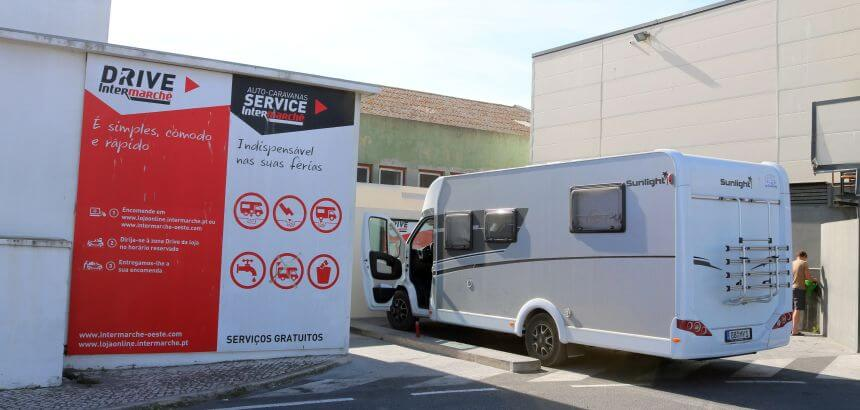 Camper Service Point vom Intermarché in Peniche_Portugal