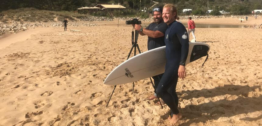 Dean Gough und der Surfnomade beim Advanced Surf Training in Portugal