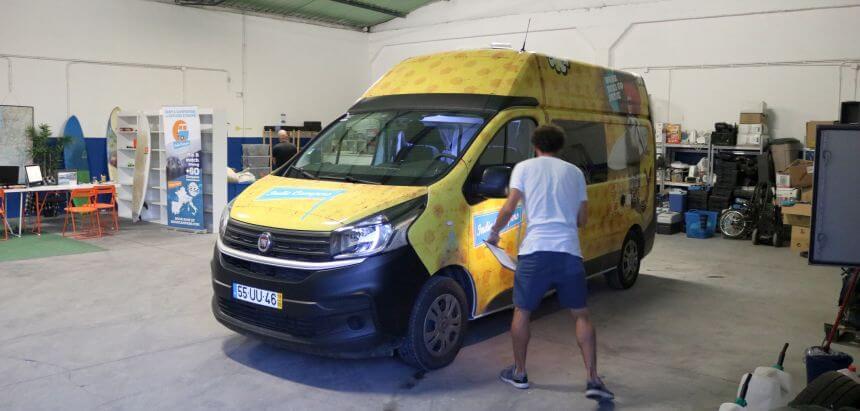 Indie Campers Erfahrung_Camper Übergabe in Lissabon, Portugal