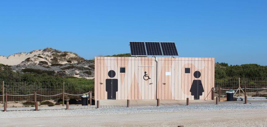 Sanitäre Anlagen am praia do malhão-alentejo