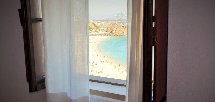 Blick aus einem der Doppelzimmer im Allmar Hostel
