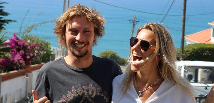 Eduardo und Joana vom Chill in Surf Hostel Portugal