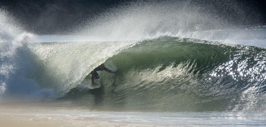 Yoyo Terhorst beim abröhren in Figueira da Foz