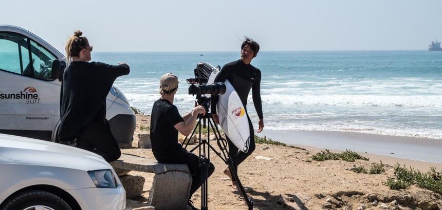 An einem Tag war auch Kanoa Igarashi mit von der Partie in Anza_Marokko surfen