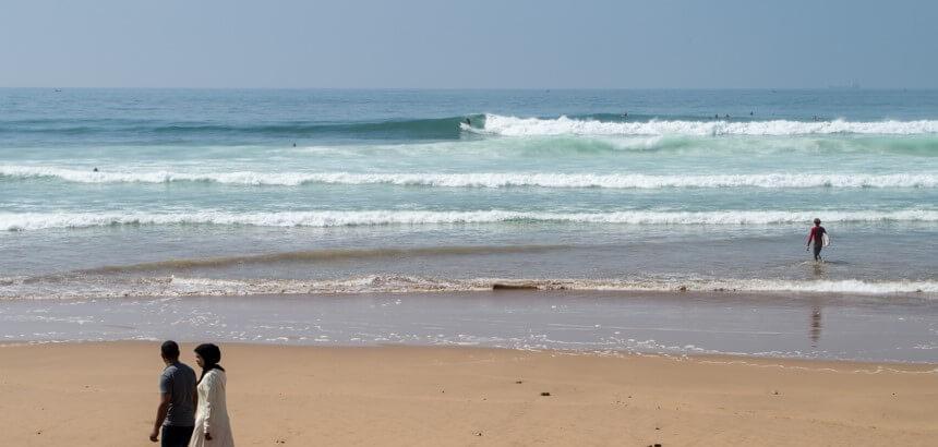 Anza ist ein beliebter Surfspot an kleinen Tagen in Marokko