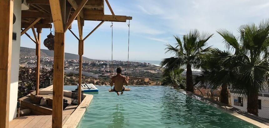 Die obligatorische Instagram-Schaukel darf auch in der Nice Base nicht fehlen_Marokko Surfcamp