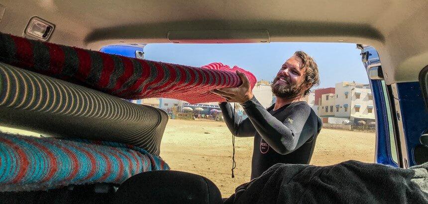 Privater Surftrip mit Justus (eines der Crewmitglieder der Nice Base) in Anza, Marokko