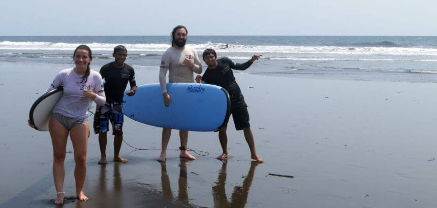 Surfkurs in Guatemala