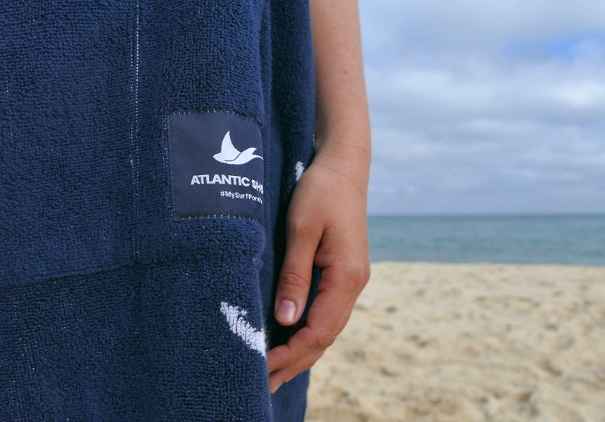 Surfer Poncho aus Baumwolle_Frottee