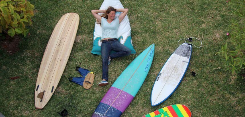 Kuntiqi Board aus Balsaholz im SaltyWay Surfcamp