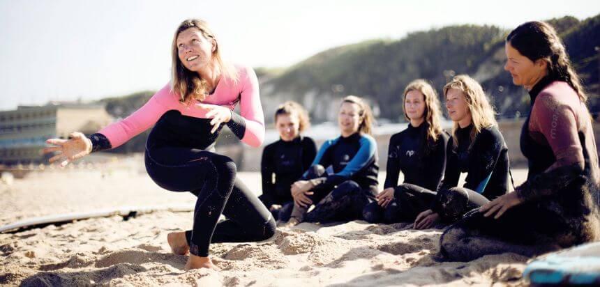Surfen lernen in Portugal mit Julika im SaltyWay Surfcamp