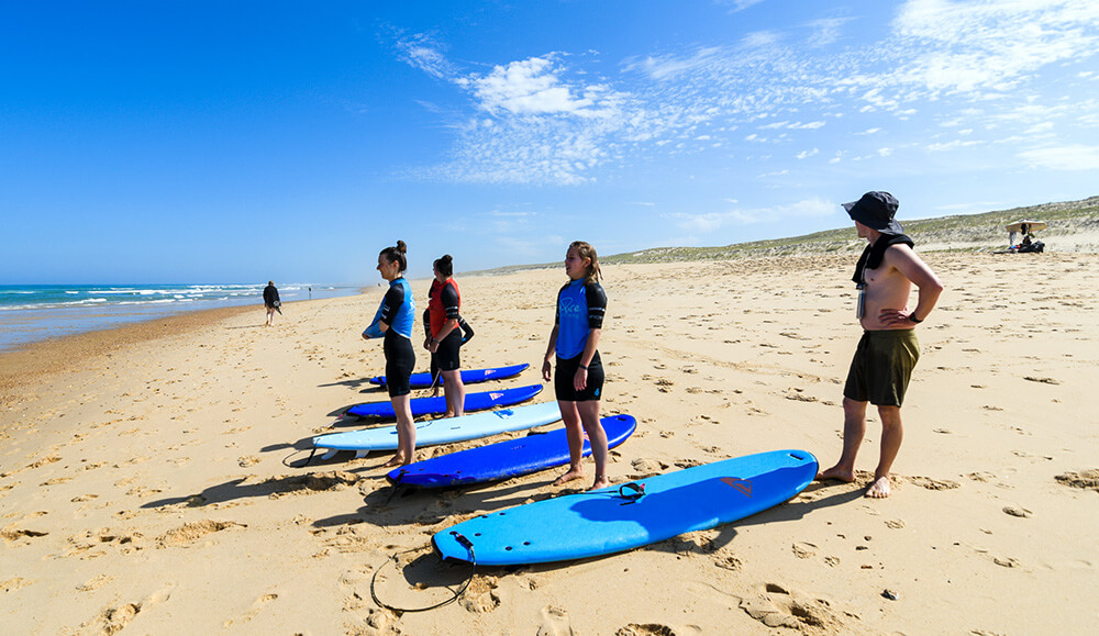Surfkurs im Pure Surfcamp Frankreich 24+