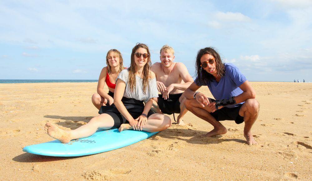 """Unsere kleine """"Pro-Crew"""" im Pure Surfcamp 24+"""