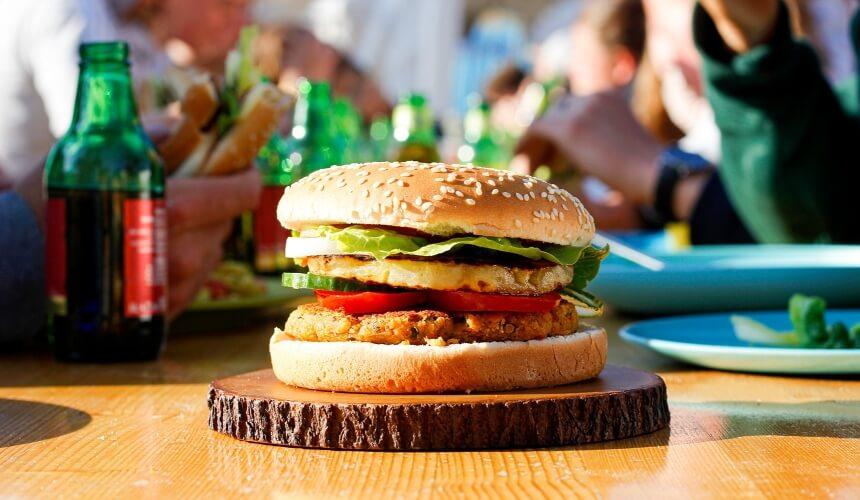 Burger bei Summersurf gibts auch vegan