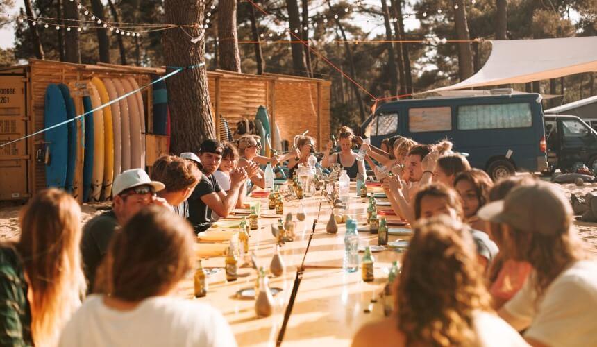 Campleben bei summersurf im Sommer 2019