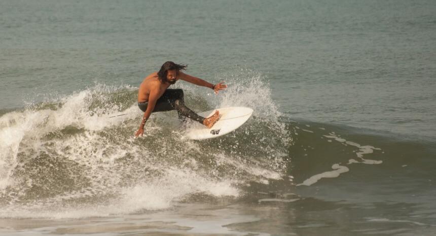 Surfbedingungen in Indien