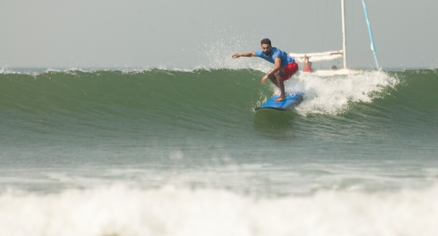 Surfen in Arambol im Norden Goas