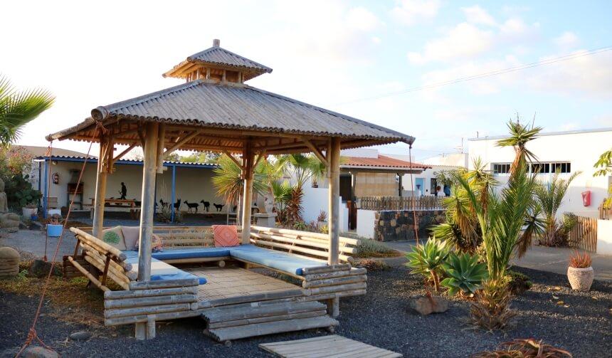 Balinesischer Garten vom Surf Institute Camphaus in Lajares