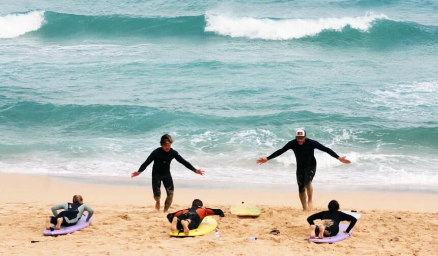 Dave und Pat beim Surfkurs vom Surf Institute Fuerteventura