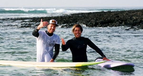 Dave und Pat vom Surf Institute Fuerteventura