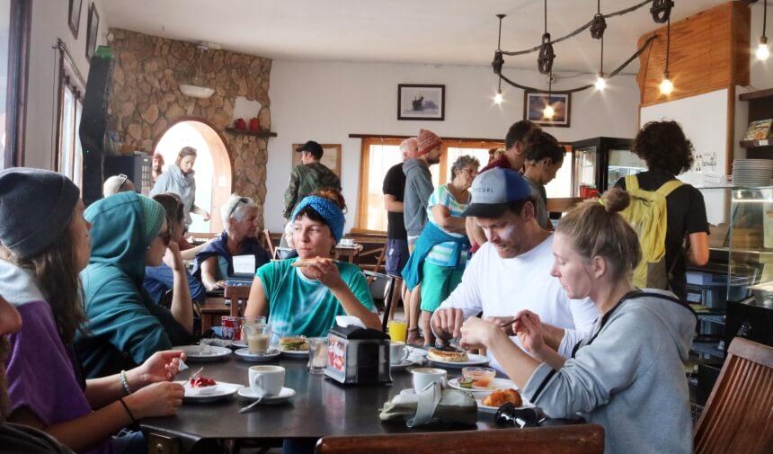 Gemeinsame Snack Pause im Café El Goloso in El Cotillo
