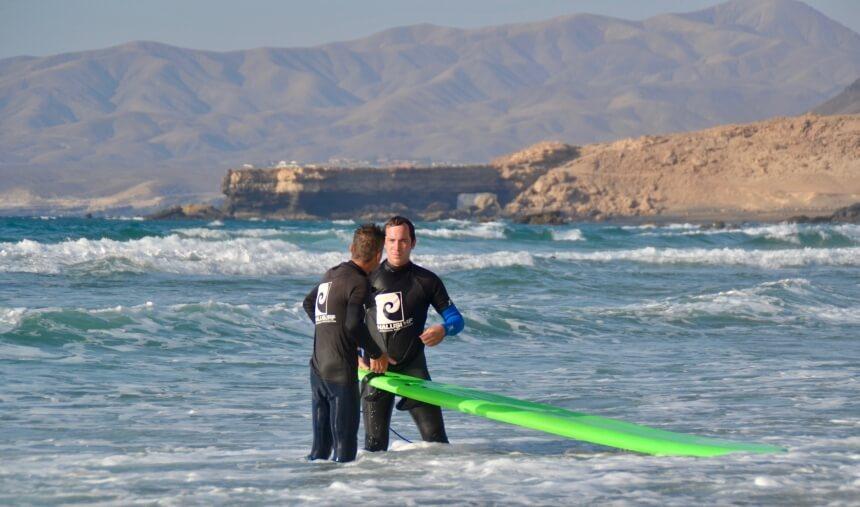 Surfcoach Ralf im 1 zu 1 Coaching in Fuerteventrura