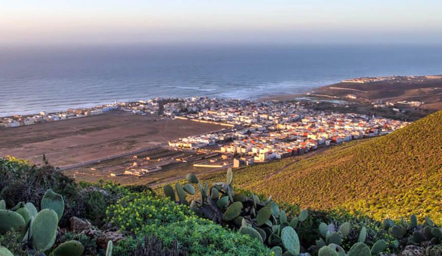 Der Surfer-Ort Sidi Ifni befindet sich im südlichen Marokko