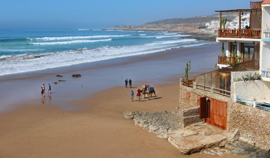 Der Surfspot Hash Point in Taghazout ist gut geeignet zum Surfen lernen in Marokko