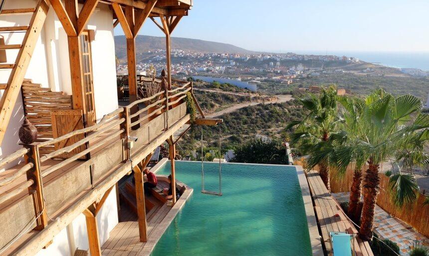 Die Nice Base in Tamraght ist eine sehr schöne Unterkunft für Surfer in Marokko