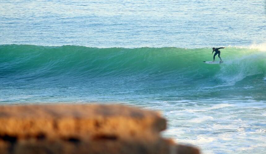 Perfekte Welle am Anchor Point_Marokko surfen