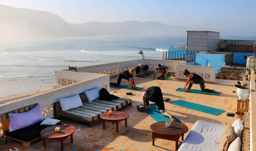 Yoga im Olo Surf & Nature Surfcamp in Imsouane