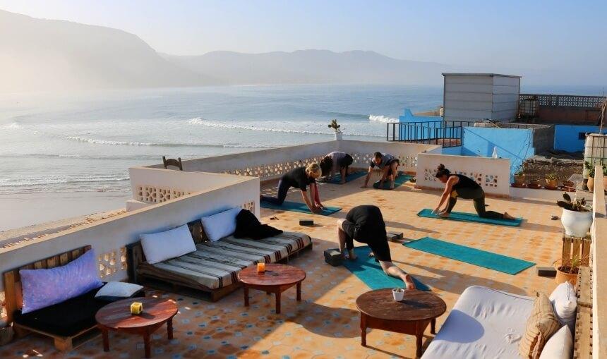 Yoga im Olo Surf & Nature Surfcamp in Imsouane