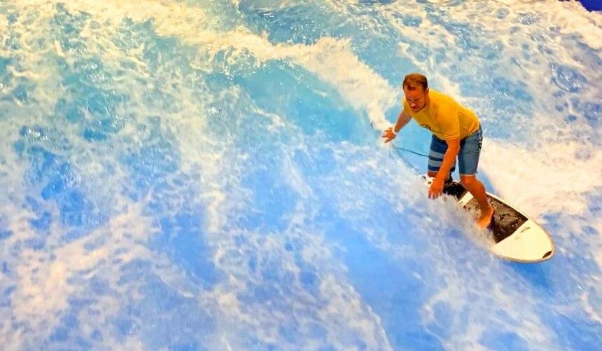 Erste Surfversuche im Wllenwerk