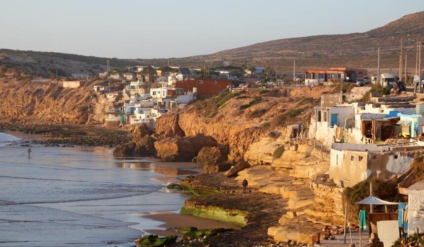 Surfer-Ort Imsouane in Marokko