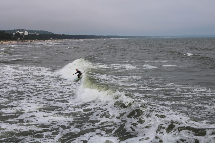 An der Ostsee surfen kann sich lohnen