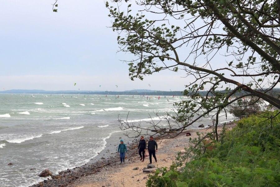 Windsurfen und Kitesurfen auf Binz an der Ostsee